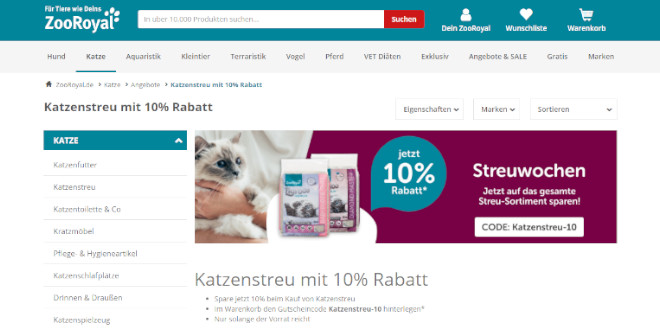 Zooroyal Katze 10 %